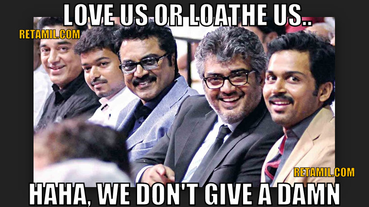 Kollywood Actors Fans' Love & Loathe